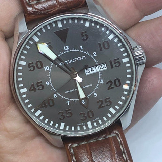 Reloj Hamilton Kakhi Pilot Automatico 47mm - Ref H647150