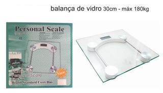 Balança Digital Vidro Temperado Cores Banheiro 180kg
