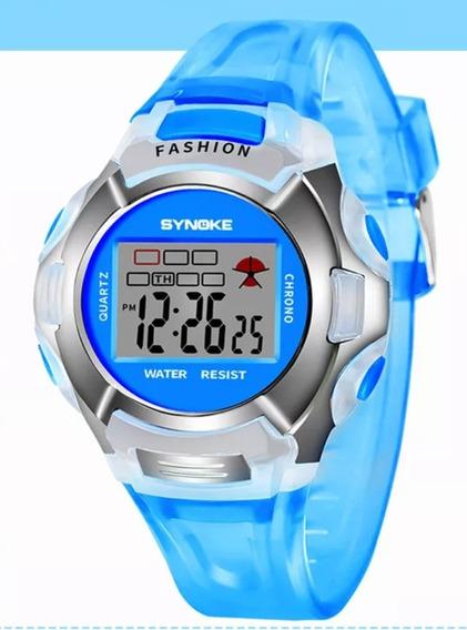 Relógio Infantil Pronta Data Alarme Luz E Cronômetro Oferta