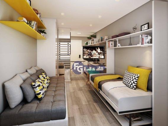 Studio Com 1 Dormitório À Venda, 17 M² Por R$ 166.000,00 - Centro - Curitiba/pr - St0020