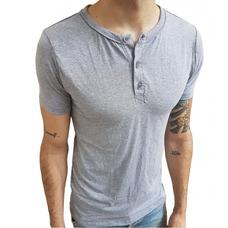 Camisa Masculina Gola Portuguesa Slim Atemporal Manga Curta 4252a7a308b2f