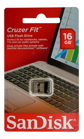 Kit 12 Pen Drive 16gb Nano Sandisk Cruzer Fit Z33 Original