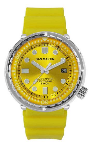San Martin Tuna Diver Marine Mergulho 300m Maq. Seiko Nh35a