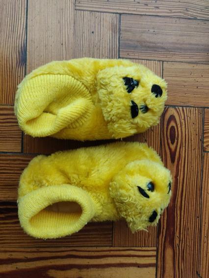 Pantuflas Botitas Infantiles Talle 24/25 Amarillas