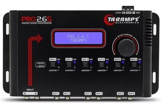 Processador De Áudio Digital Taramps Pro 2.6s 6 Saidas