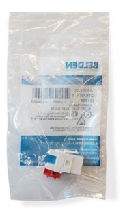 Conector Jack Rj45 Belden Categoria 6 Ax101320 Color Blanco