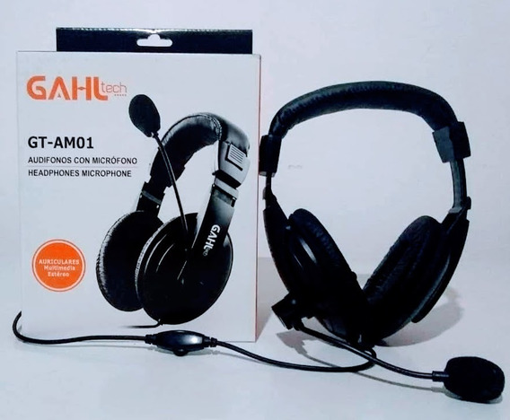 Audifono Microfono Gahl Tech / Multimedia Estéreo 3.5 Mm
