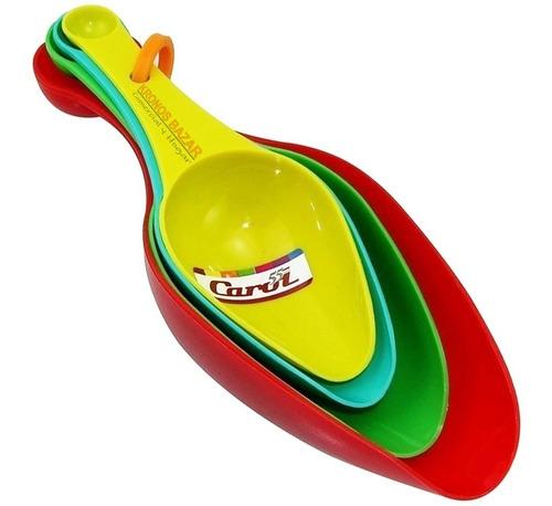 Cucharas Medidoras Dosificadoras Set X 4 Cuchara Color Carol