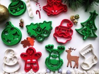 5 Pack Cortadores Para Galleta Navideño Repostería Navidad