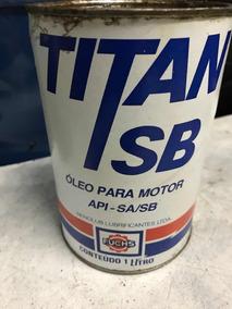 Lata De Óleo Titan Sb Antiga