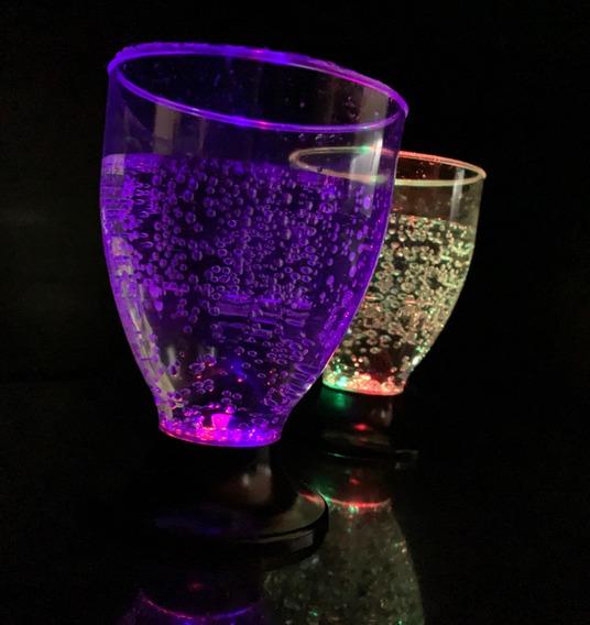 10 Copas Led Luminosas Multicolor Vasos Copa Led Cotillon