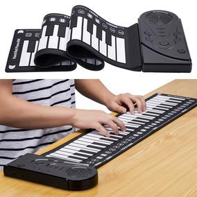 49 Teclado Chave Dobrável Mão Rolo Piano Portátil