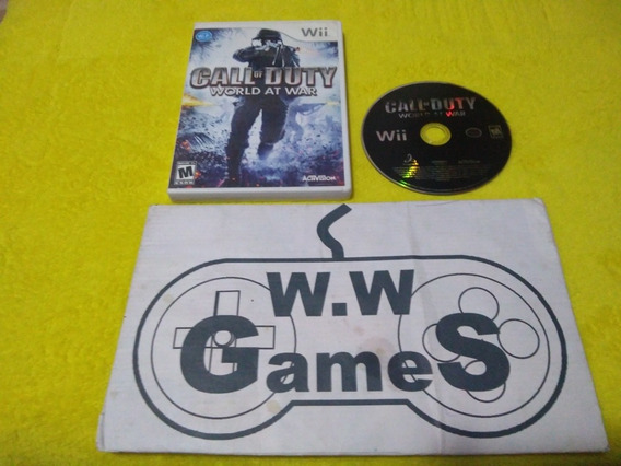 Nintendo Wii - Call Of Duty World At War - 100% Original.