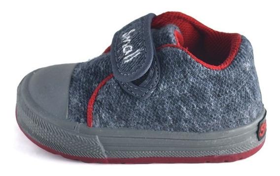 Zapatilla Bebe Abrojo Towel Grafito Small Shoes