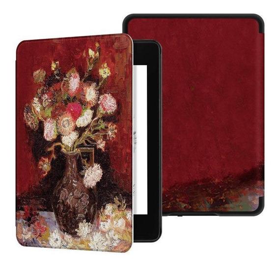 Capa Novo Kindle Paperwhite 4 Hibernação Magnético Vaso