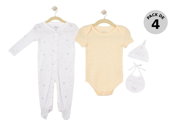 Conjunto De 4 Piezas Baby Creysi Collection Amarillo U00418