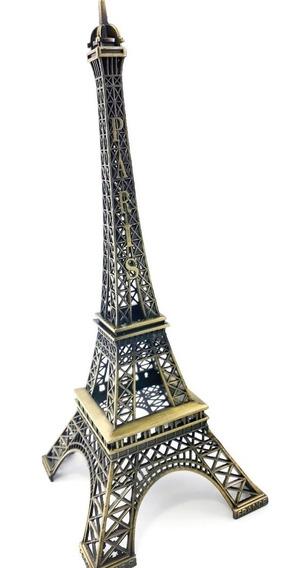 Torre Eiffel Enfeite Miniatura Metal 25cm Paris Para Decoração Mesa Sala Promoção
