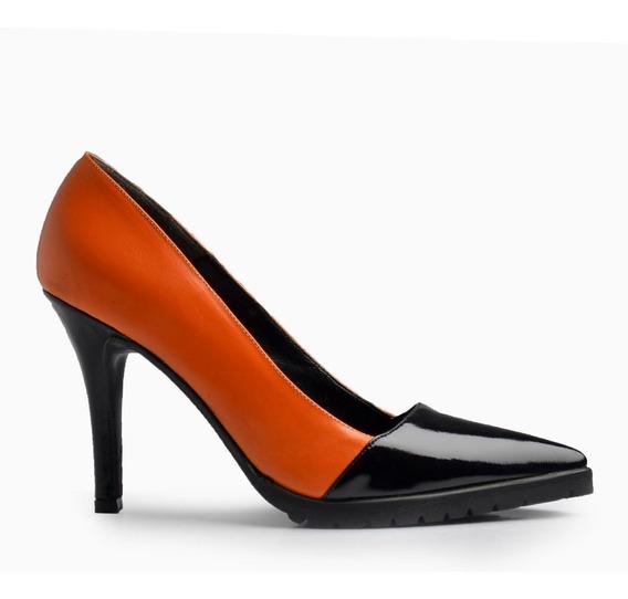 Zapatos Vestir De Mujer De Cuero Venecia - Ferraro -