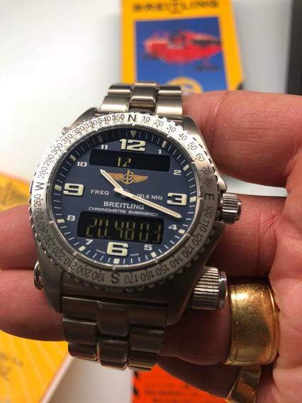 Breitling Emergency Titanium Novo Revisado Breitling