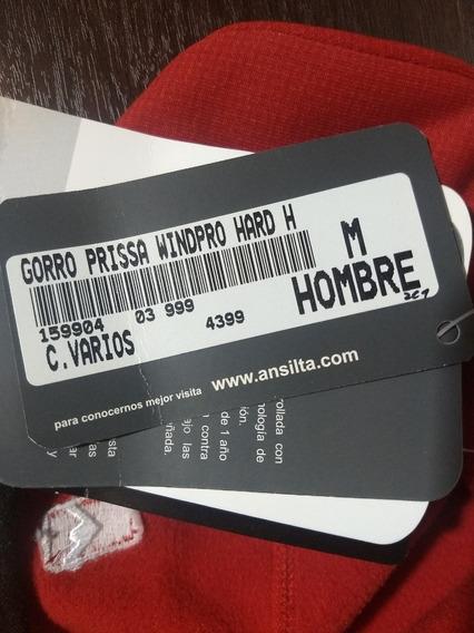 Gorro Ansilta Prissa Windpro Talle M Color Rojo.