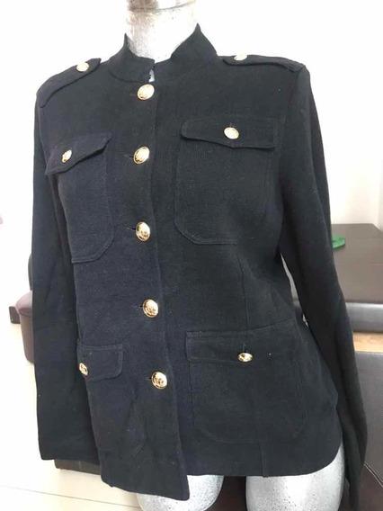 Suéter Abrigo Negro Ralph Lauren