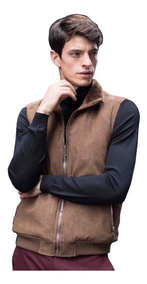 Chaleco De Suede Con Cuello Fur Para Generra 928603