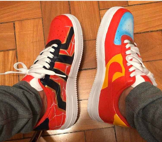 Tênis Nike Air Force 1 Costumizado Avengers