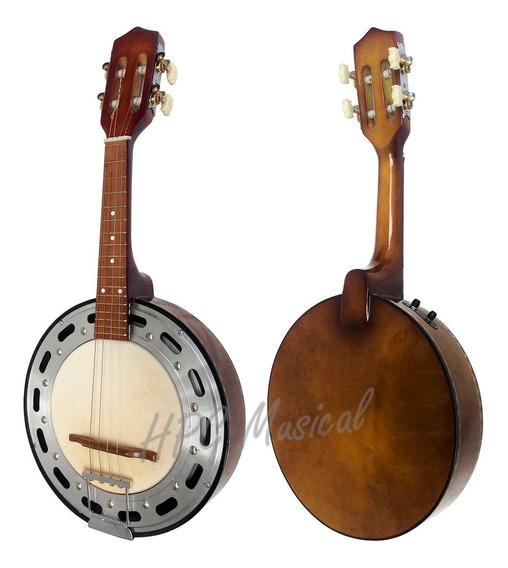 Banjo Elétrico Acústico Clave Sonora Natural Escuro