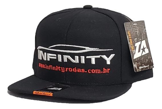 Boné Infinity Rodas Snap Back Preto 1040