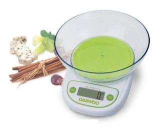 Balanza De Cocina 5 Kg Daewoo Electronica Digital Lcd Bowl
