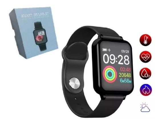 Relógio B57 Inteligente Unissex Bluetooth Ios Android