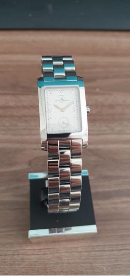 Relógio Suíço Baume Et Mercier Hampton Branco De Aço