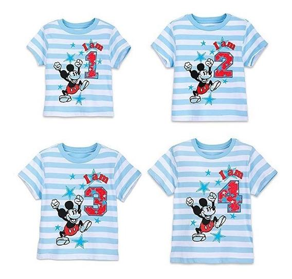 Playera De Niño De Cumpleaños Mickey Disney Original
