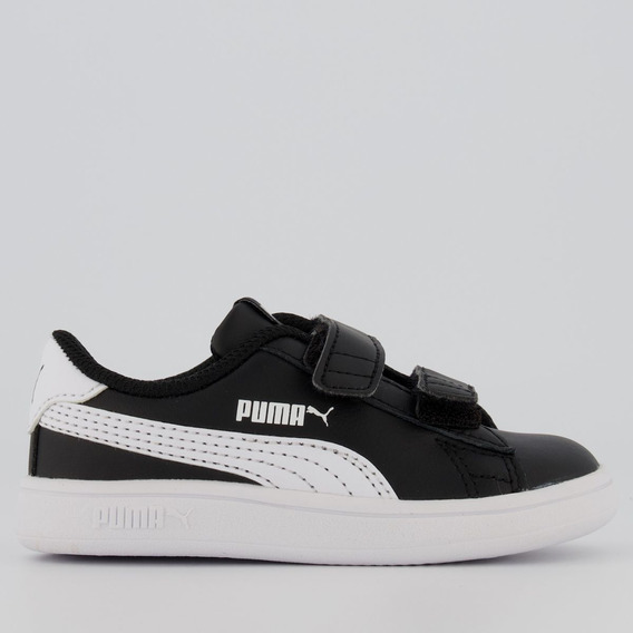 Tênis Puma Smash V2 L V Infantil Preto