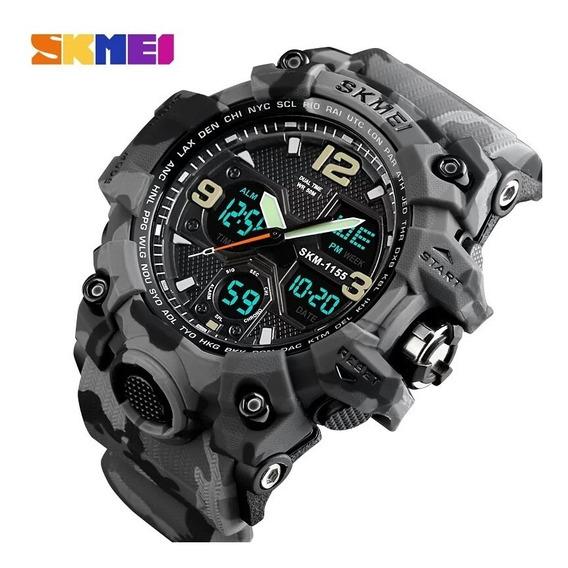 Relógio Skmei 1155 Sports Militar Do Exército Dual Time