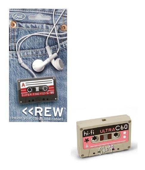 Enrolla Cable Cassette Auricular Retro Kawai Zona Retro Haed