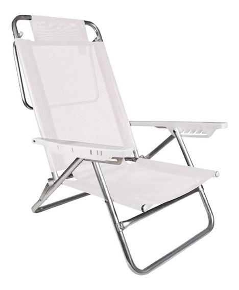 Cadeira Praia Mor Summer Alumínio Reclinável 6 Posições 2107