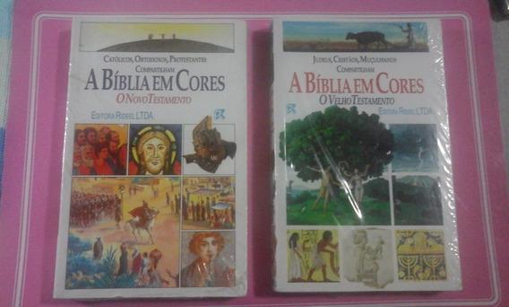 A Biblia Em Cores.antigo E Novo Testamento. 2 Vol. Rideel-ra