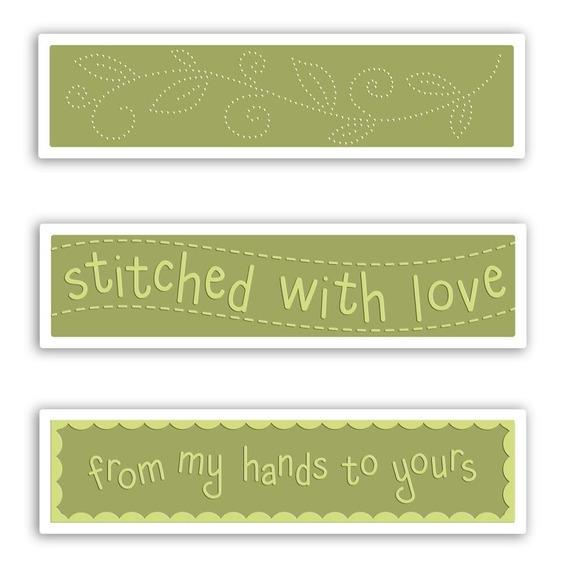 Set De 3 Carpetas Texturizadoras Embossing Stitched With Lov