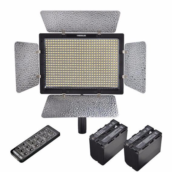 Iluminador Yongnuo 600l Ll Leds + 2x F970 + Car + Fonte