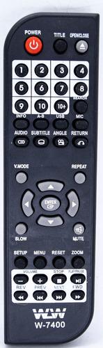 Controle Dvd Mondial D03 / D05 / D06 / D-03 D-05 D-06 7400