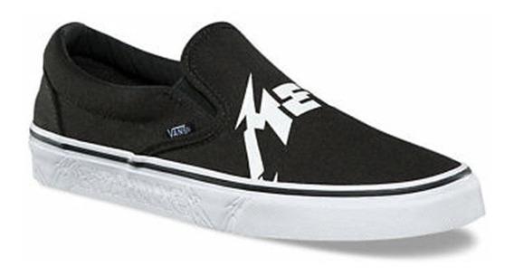 ### Tênis Vans Metallica X Classic Slip-on Black White ###
