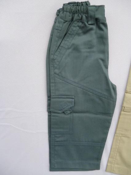 Pantalón De Gabardina Y Lino.- Talles 3 Y 4.cint.elastizada.