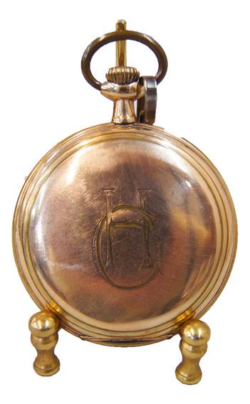 Relógio De Bolso Elgin Usa 15 Rubis