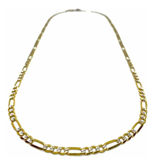Cadena De Oro 10k Tejido Tipo Cartier 3x1 Diamantada