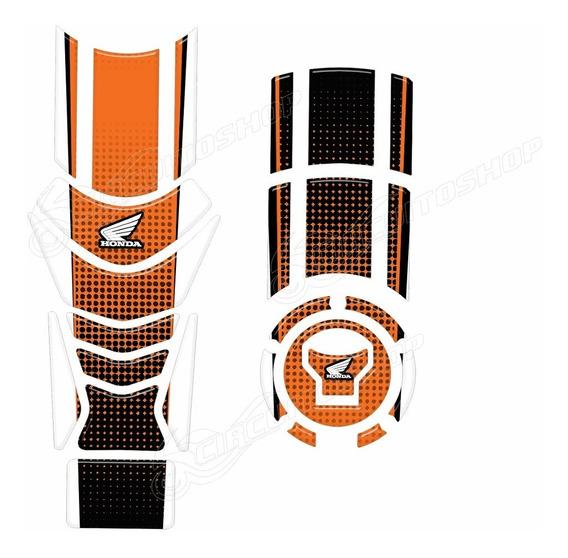 Protetor Faixa Tanque + Bocal M4 Moto Honda Cb 250 Twister