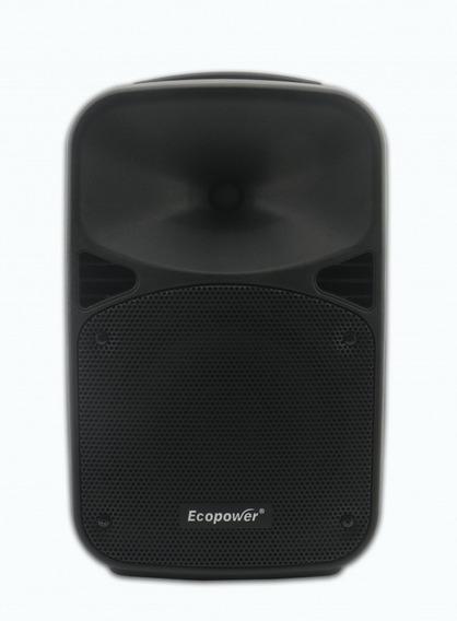 Caixa De Som Ativa Ecopower Mp3 Usb Fm Bluetooth Mic S/ Fio