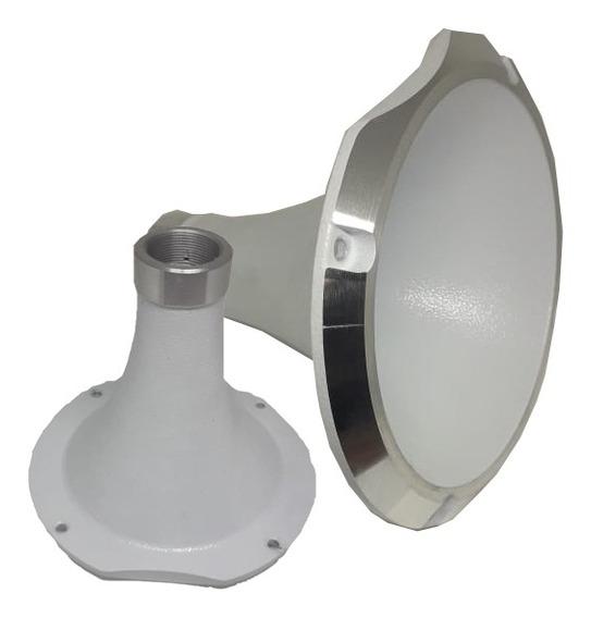 Cone Cromado Curto Rosca Padrão Jbl D250x Branco
