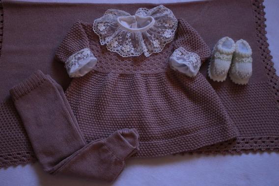 Saída Maternidade Manta Vestido Rn Hipoalergênico Nudê