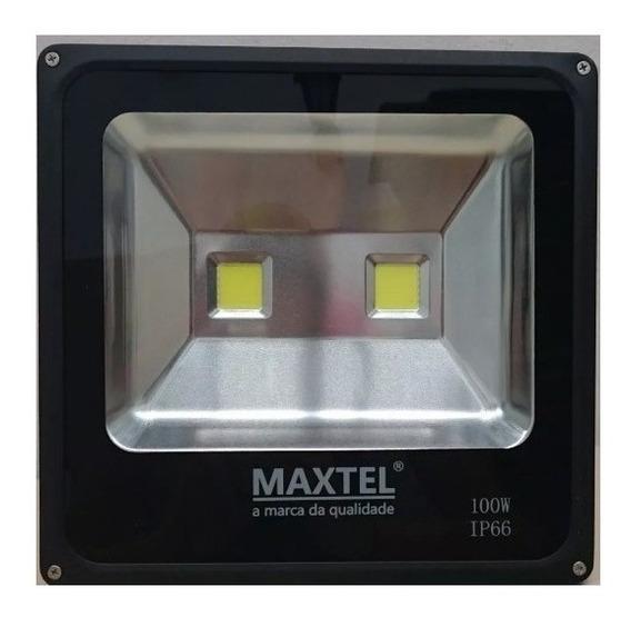 Refletor Holofote De Led Maxtel 100w Primeira Linha